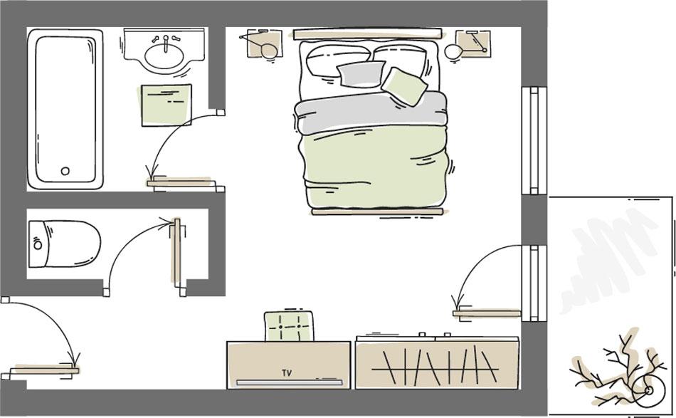 Doppelzimmer Zirmkogel