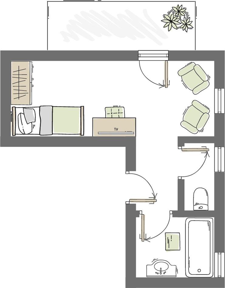 Einzelzimmer Nederkogel